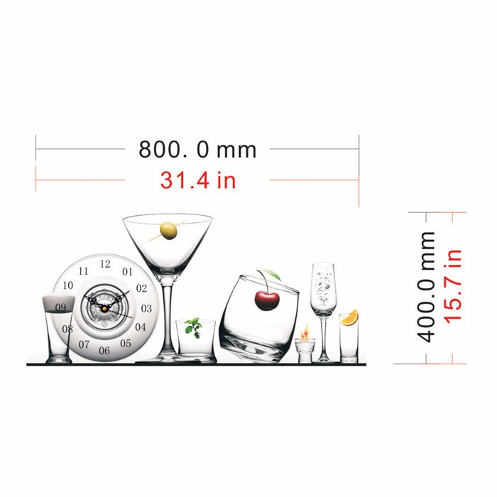 NEW High Quality PAG STICKER 3D Wall Clock Decals Glass Tableware Wall Sticker Home Canteen Wall Decor Gift(China (Mainland))