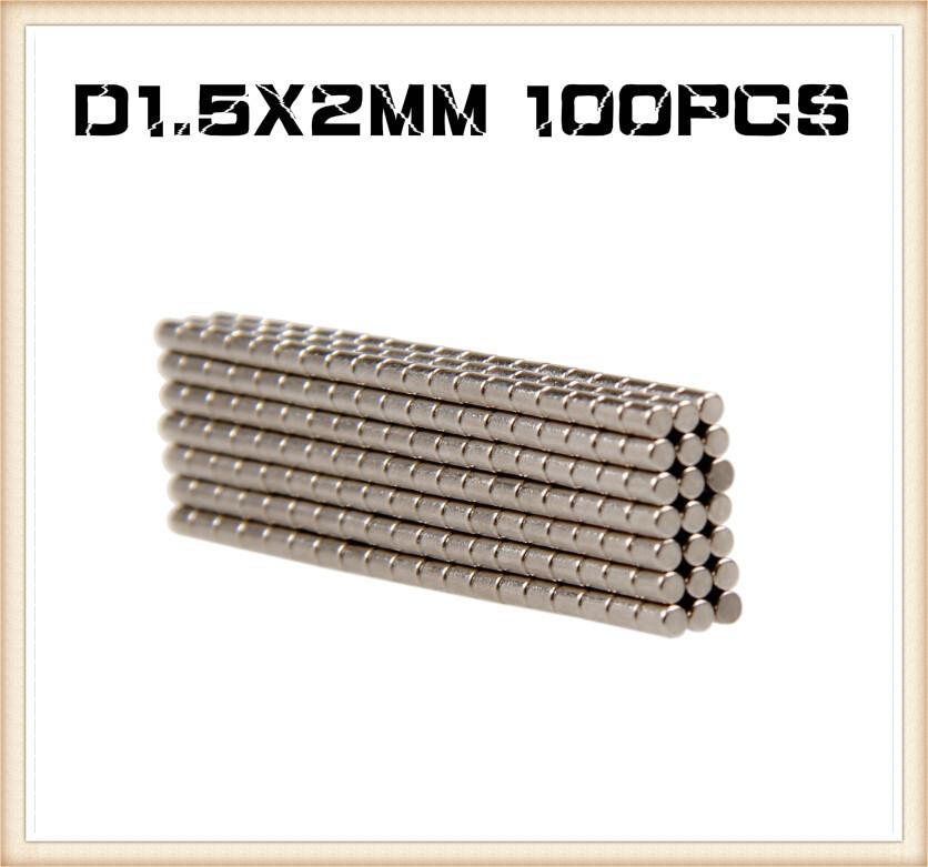 Гаджет  In Stock New 100Pcs Neodymium rod magnets 1.5mm dia x 2mm N35 magic wargames models craft diy Free Shipping None Строительство и Недвижимость