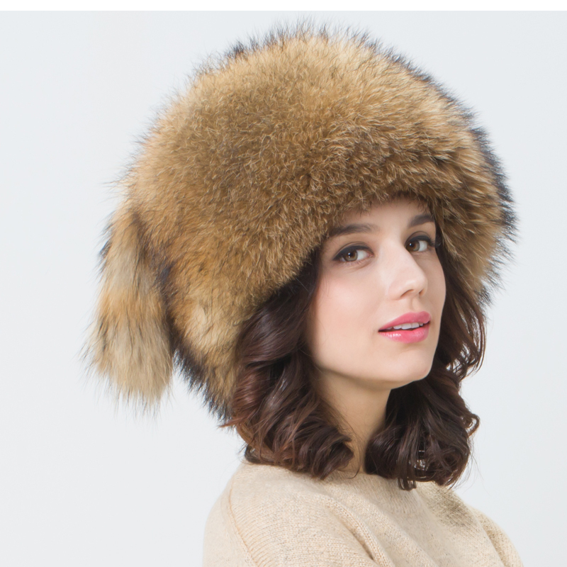 New female genuine Fox fur hat winter raccoon fur hat and fur hat dome cap Mongolia autumn and winter(China (Mainland))