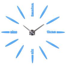 Top moda diy relógio de parede espelho acrílico adesivos sala de estar ainda a vida moderna casa decoração relógios relógio de quartzo(China)