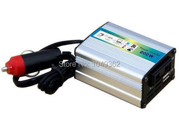 DC 12V to AC 220V 200W Car Auto Power Inverter Converter Adapter Adaptor USB High Quality(China (Mainland))