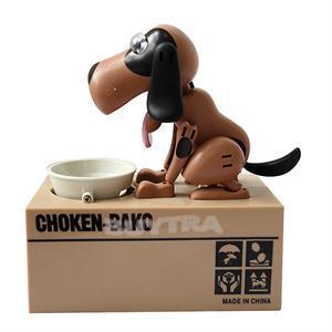 2014 New HOT Puppy Hungry Eating Dog Coin Bank Money Saving Box Piggy Bank(China (Mainland))