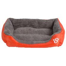 S-3XL 9 Colors Paw Pet Sofa Dog Beds Waterproof Bottom Soft Fleece Warm Cat Bed House Petshop cama perro(China)