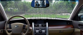 """7"""" TFT LCD Color Screen Car Mirror Monitor Reverse Rearview Camera DC 12V  Power Supply 30"""