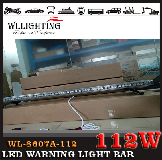 "free shipping 59"" inch 112 LED Wrecker Flashing LightBar Beacon Strobe Light Bar Recovery LightBar blue(China (Mainland))"