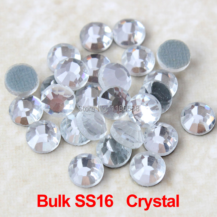 sale rhinestone High quality 200Gross/bag Bulk pack DMC SS16 Crystal clear hotfix rhinestones use for wedding dresses(China (Mainland))