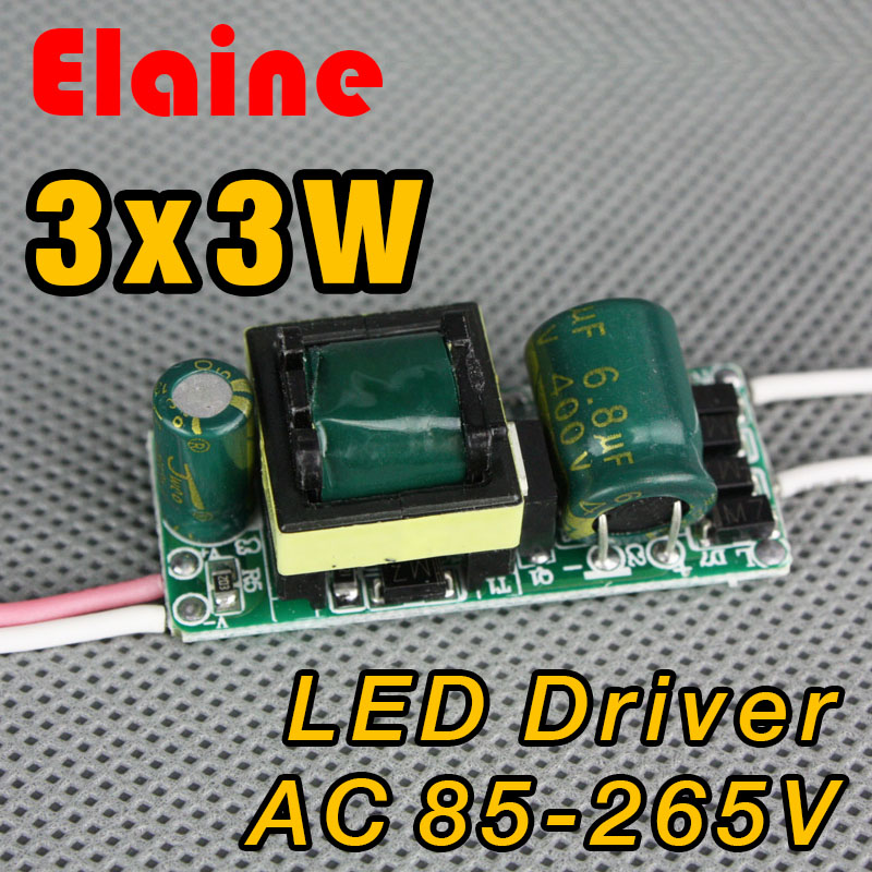 New Year 3x3w led driver 85-265V lamp driver 9w power driver for E27 GU10 E14 LED Lighting Transformer free shipping(China (Mainland))