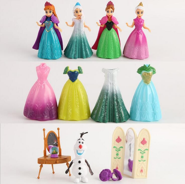 13pcs/set snow queen elsa ANNA Dress girl toy play house Dress Up Toys 20150815(China (Mainland))