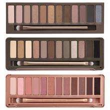 3 unids/lote nuevo maquillaje desnuda paleta de sombra de ojos 12 collor NK1 2 3 juego de maquillaje(China (Mainland))