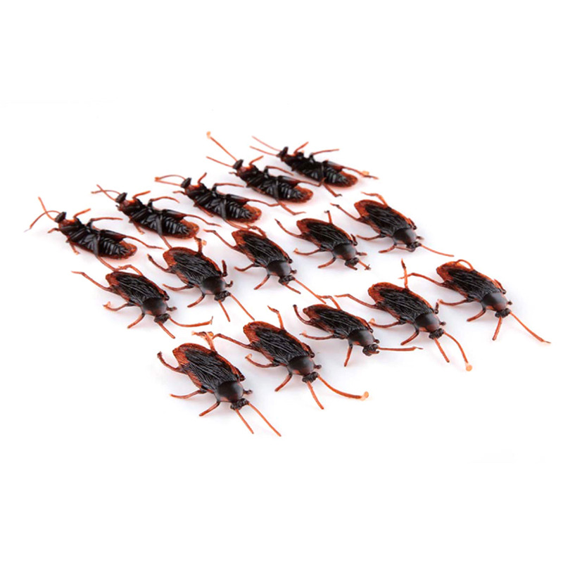 50pcs/lot dog cat pet toy halloween party decoration fake cockroach roach roaches bug prank toys holiday supplies kids gifts(China (Mainland))