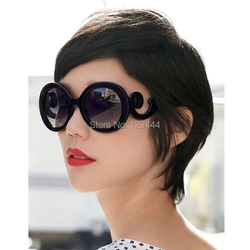 Free Shipping Vintage Brand Pra Flower Butterfly Feet Frame Round Sunglasses Women gafas oculos Fashion High Quality Sun Glasses