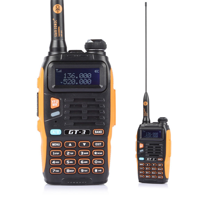 BaoFeng GT-3 Mark II Two-Way Radio, Dual Band UHF/VHF 136-174/400-520MHz with 23CM High Gain Antenna and Car Charger(China (Mainland))