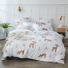 Alanna Pastoral style 4/7pcs Bedding set Solid with Plant animals Printed Sheet Pillowcover quilt Bedding Sets(China)