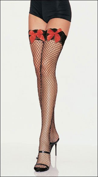 High Stockings 2015.Sexy Underwear/Sexy Lingeries / Sexy Costumes . Sexy Lace Top Fishnet Thigh