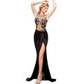 FGirl Ukraine Office Dress Party Dresses for Women Embroidered Mesh Wrap Maxi Dress FG10249