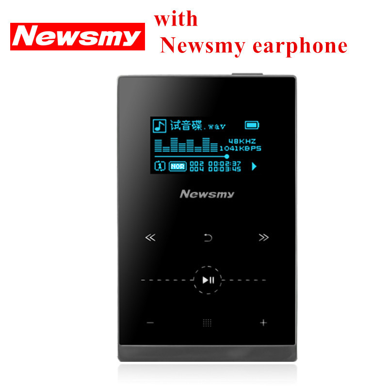 100% Original Newsmy G1 hifi music player 8GB mp3 36hours play metal portable mp3 Support MP3 WMA APE FLAC WAV OGG AAC format(China (Mainland))