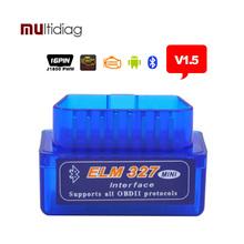 ELM327 Bluetooth Auto Diagnostic Tool v1.5 ELM 327 diagnostic-tool obd2 Car Code Scanner OBD 2 OBDII Scaner Automotivo v 1.5(Hong Kong)
