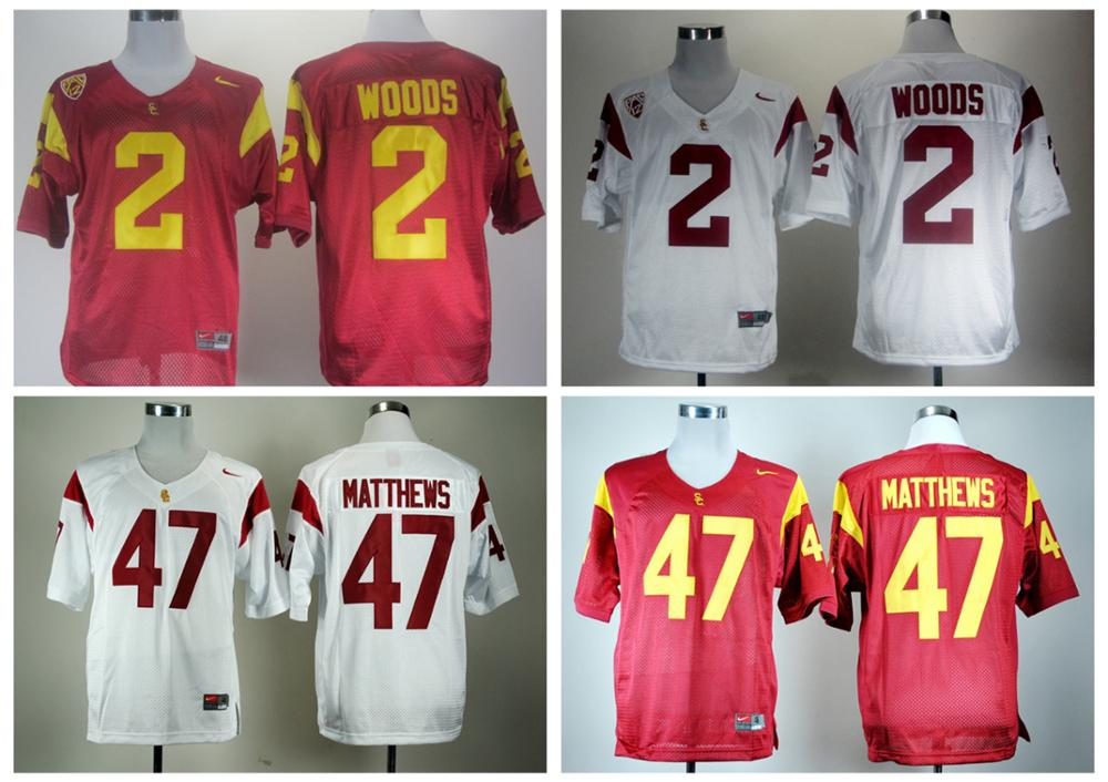 USC Trojans Robert Woods 2 Red,Matt Barkley 7,Mark Sanchez 6(China (Mainland))