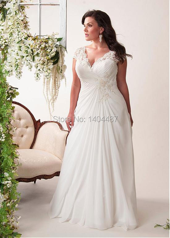Vestidos de novia plus size bohemian wedding dresses beach for Beach wedding dresses for plus size