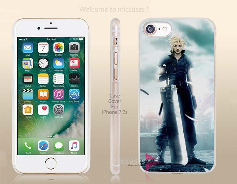 Final Fantasy Advent Children Hard Clear Cell Phone Case Cover for Apple iPhone 6 6s 7 7s Plus(China (Mainland))