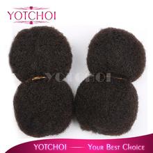 Yotchoi mongolian virgin afro kinky curly bulk natural colour 4pcs/lot 100% human hair mongolian kinky curly hair(China (Mainland))