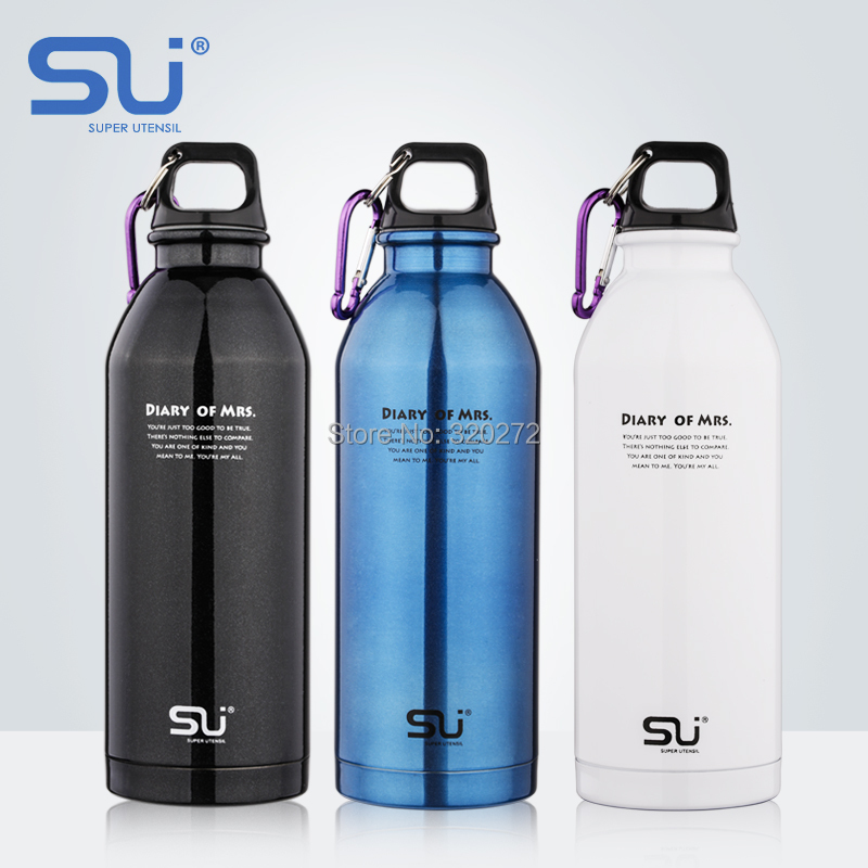 Su stainless steel sports bottle bicycle pot outdoor water glass hiking travel portable leak sportswear - B&M E-Commerce Co.,Ltd store