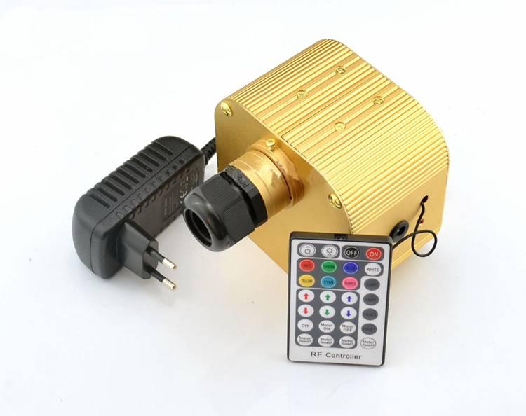 Dimming Fiber Optic Illuminator 16W RGB LED DC 12V Home Decoration + 100-240V to 12V Adapter+28key RF Remote Controller(China (Mainland))