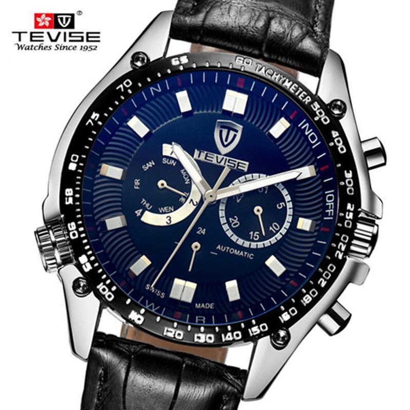 Famous Brand Mechanical Men Watches Brand TEVISE Luxury Mechanical Watch Big Dial Clock Male Wristwatch Relogio Masculino Reloj(China (Mainland))