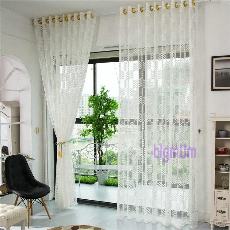 Nueva cortina de tul llegada para sala de estar pura - Cortinas de gasa ...