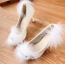 High heel 8cm fashion platforms round toe white wedding party shoes, TG018 rhinestones sexy feather patchwork bridal dance shoe(China (Mainland))
