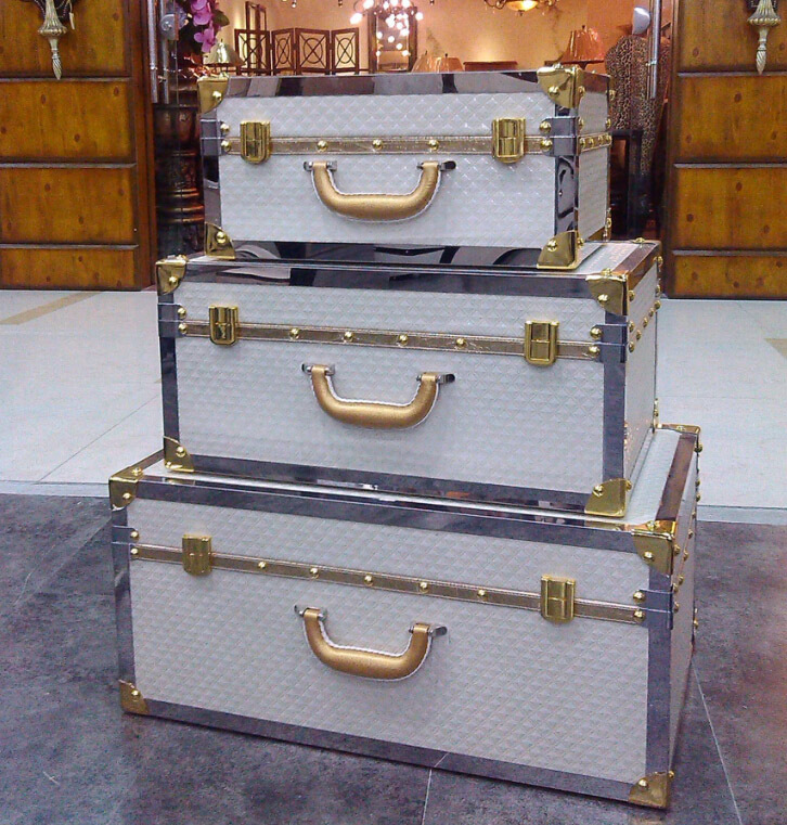 High grade stainless steel wrapping box suitcase cortical storage box Home Furnishing Club showroom display box(China (Mainland))