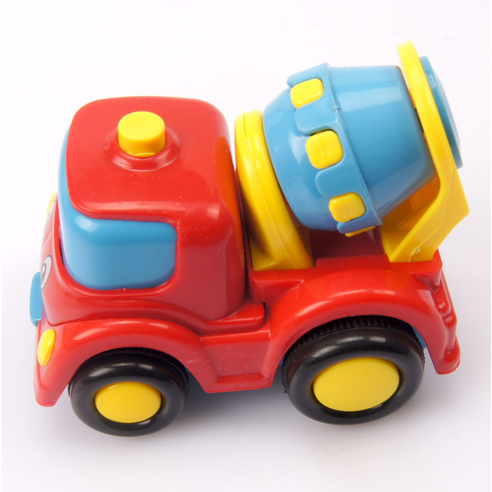 Free Shipping Cementing Truck Christmas gift Baby Children autotruck semi-automatic car toy Classical game toy 2015 New Arrival(China (Mainland))