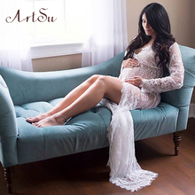 Buy ArtSu 2017 Pregnant Women Maxi See Floral Elegant Lace Long Dress Sexy Summer Evening Party Dresses Vestidos ASDR20033 for $11.94 in AliExpress store