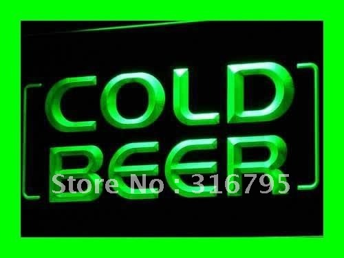 i348-g Cold Beer Bar Pub Club OPEN NEW LED Neon Light Sign On/Off Switch 7 Colors
