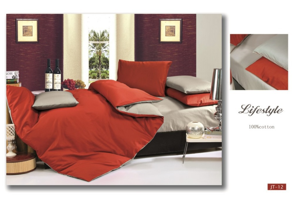 New fashion color cotton bedding 1.5m 1.8m wide bed pillow cases comforter cover bed sheet /B2402(China (Mainland))