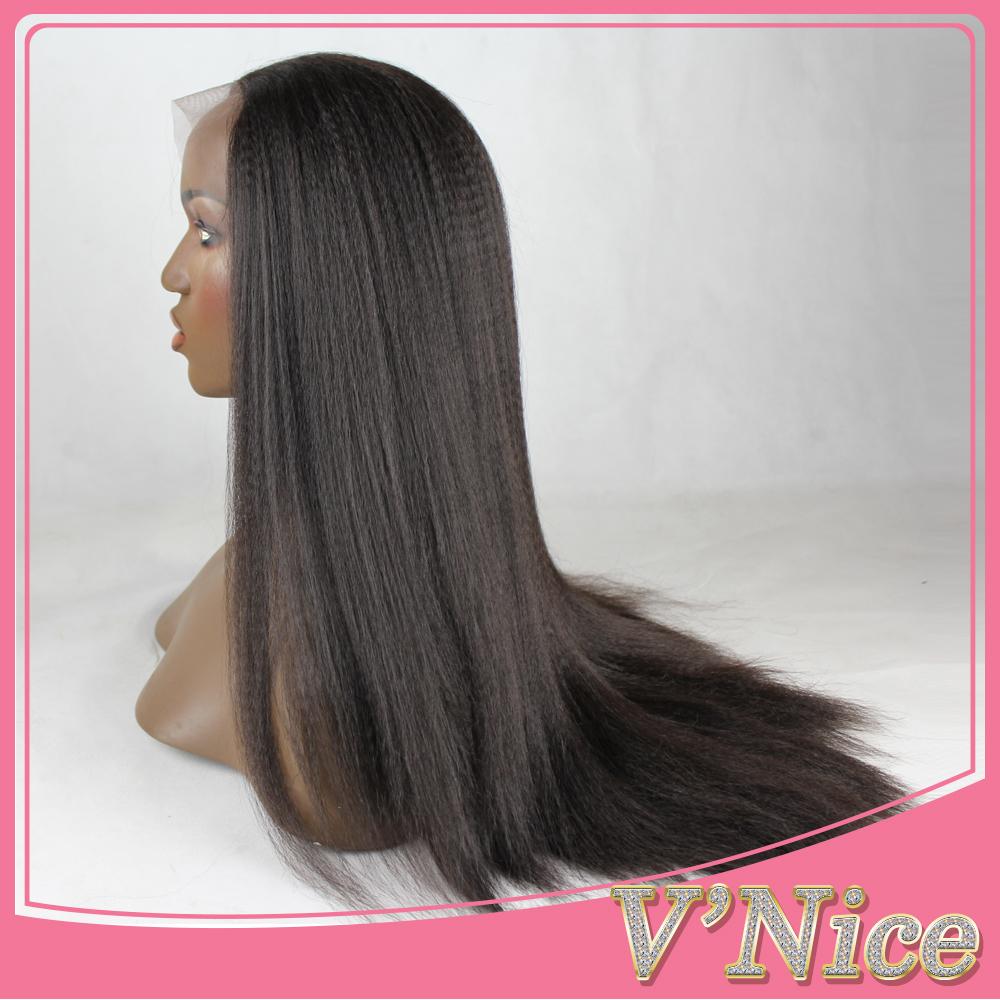 Yaki Synthetic Lace Front Wig Black Heat Resistant Fiber Italian Yaki Straight Synthetic Wig Free Part Glueless Yaki Wig <br><br>Aliexpress