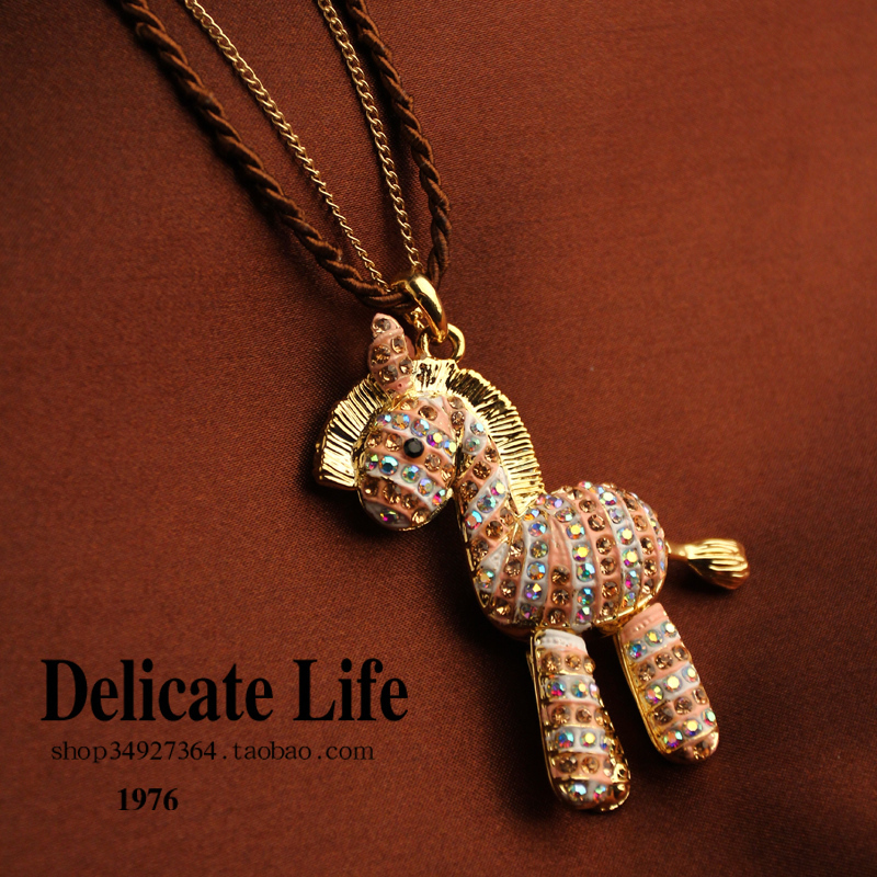 Horse necklace vintage necklace female decoration long design necklace accessories jewelry z204, free shipping(China (Mainland))