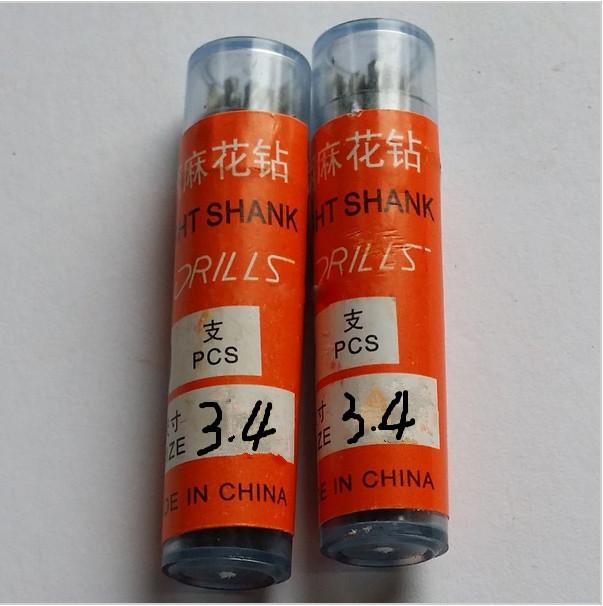 20pcs Micro HSS 3.4 mm Straight Shank High Speed Steel Twist Drill Bits ,Mini Drill Bits,Electric Drill Power Tools