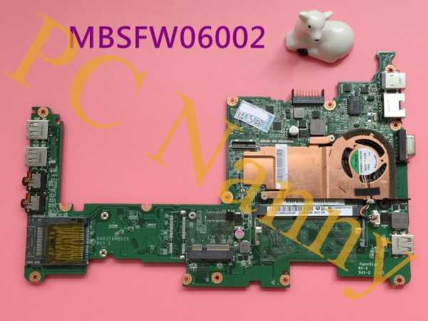 MBSFW06002 DA0ZE6MB6E0 For Acer Aspire One D257 Laptop Intel Motherboard Atom N435 1.33GHz DDR3 Intel GMA 3150(China (Mainland))