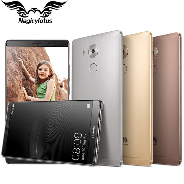 Оригинал HUAWEI MATE 8 4G LTE Мобильного Телефона Кирин 950 Octa ядро 6.0 inch 3 ГБ RAM 32 ГБ ROM Dual SIM 1920 * 1080px 16.0MP Отпечатков Пальцев