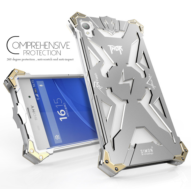 Original Design Cool Metal Aluminum Armor THOR IRONMAN protect phone cover shell case Sony Xperia Z2 Sony-Ericsson - 251398hfhf store