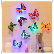 Creative Flashing LED Colorful Butterfly night light baby bedside lights Indoor lighting Party decorations Christmas Nightlights(China (Mainland))