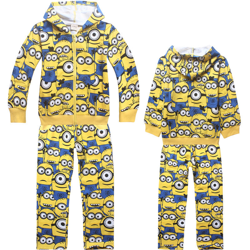 Mionions Clothes Sets Children Cartoon Shirt &amp;Pants&amp;Coats Boys Cartoon Outerwear Fashion Kids Minion Spring Clothing For Kids<br><br>Aliexpress