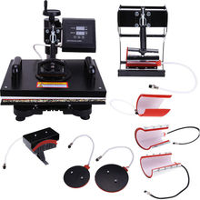 2016 Top Fashion Limited Heat Press 8 IN 1 Digital Transfer Machine Sublimation T-Shirt Cup Cap Plate Bag