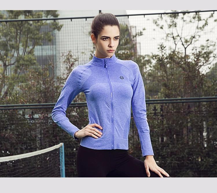 2016 Female Zip Sweatshirt Women Fashion Sports T-shirt Running Yoga Fitness Fast drying Girl Lady Fitness Clothing Workout (18)