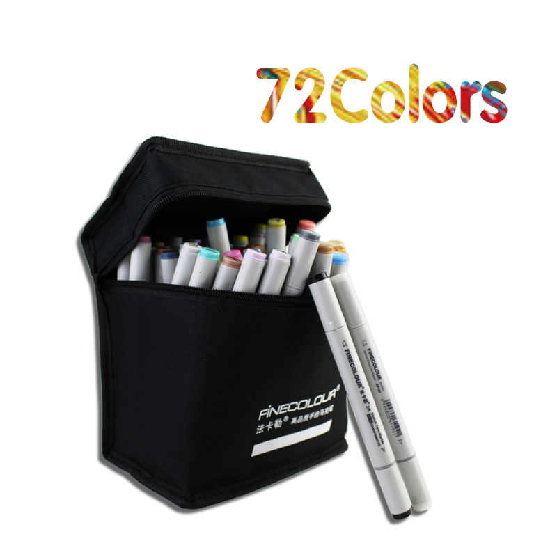 160 Colors Double Headed Sketch Marker Pen 72 PC Standards Animation Design Set Painting Sketch Art Copic Marker Pens Stationery(China (Mainland))