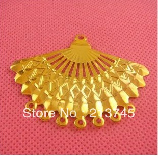 Freeshipping 57*44mm The fan flower piece Mental Beads Cap Jewelry findings Connection Hair accessories(China (Mainland))