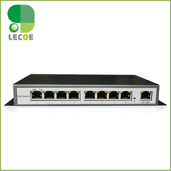 8 port IEEE802.3af/at PoE Switch/Adapter for CCTV Network POE IP Cameras System  8 x 100M bit Auto-MDI
