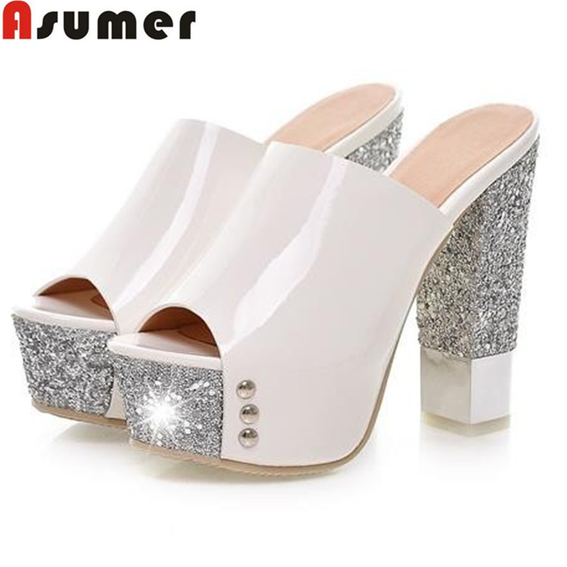 Top quality New fashion women shoes high heels sexy platform pumps gold red yellow prom wedding shoes woman peep toe slippers