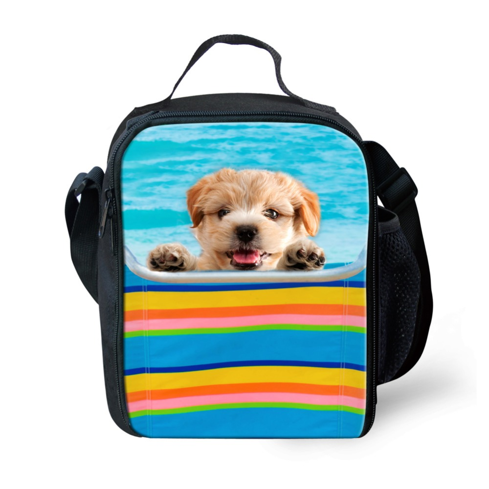 2016 Trendy Animal Pet Dog Insulated Lunch Bag Portable Student Termica Food Keep Warm Lunch Box Outdoor Travel Kids Picnic Bag(China (Mainland))